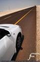 Vanishing road in the desert