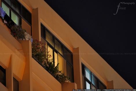 Lighted windows