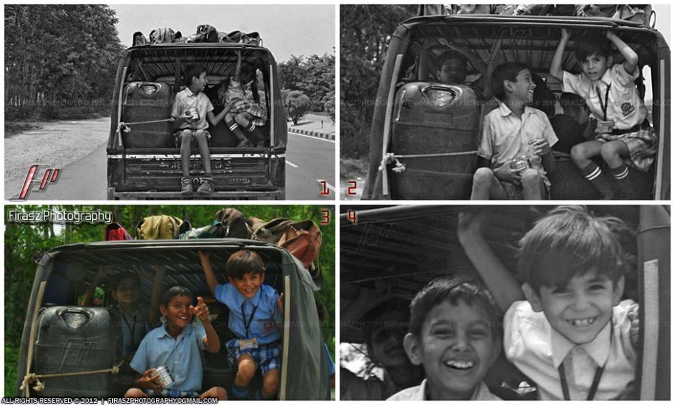 School boys - surprised & happy