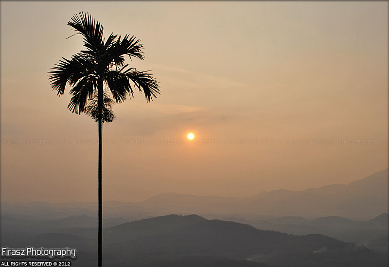Golden creamy sunset